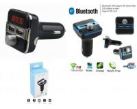 FM трансмиттер TDS X9 12В, USB/microSD/AUX, автомобильный, Bluetooth, USB зарядка 2100 mA, пульт, коробка, цветной