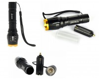 Фонарь BORUIT Z-19 1 светодиод CREE T6, 700L аккумулятор 18650 или 3 *AAA ZOOM, сетевое ЗУ для зарядки аккумулятора: 4.2V/300mA