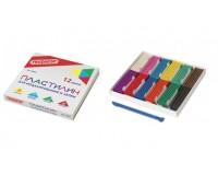 Пластилин Пифагор 100973 количество цветов в наборе: 12 цветов масса: 240 г с пластиковым стеком, картонная упаковка