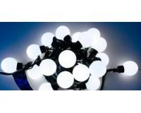 Гирлянда Космос KOC_GIR30LEDBALL_W 30 светодиодов шарики белые, 4, 4 м. 3 Вт., 8 режимов мигания
