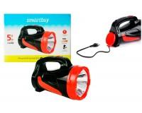 Фонарь-прожектор SmartBuy SBF-355-K 1 светодиод (5W), аккумулятор 4V 2, 8Ah, кабель для зарядки, 2 уровня яркости 50/100%