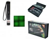 Фонарь - JD-303 лазер 100 mW - зелёный 1*18650 (в комплекте) указка лазерная, анодированный алюминий, блокировка
