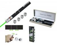 Фонарь - LD-54 лазер 100 mW - зелёный 2*ААА (в комплекте) указка лазерная, металлический корпус