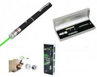 Фонарь - LD-55 лазер 100 mW - зелёный 2*ААА (в комплекте) указка лазерная, металлический корпус