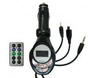 FM трансмиттер Орбита KС-201 12В, USB/microSD/AUX, автомобильный, пульт, шнур microUSB, черный
