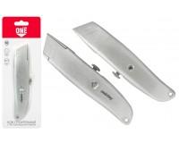 Нож строительный SmartBuy KNT-18P1 размер: 18 мм отламываемое лезвие, алюминиевый корпус