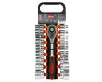 Набор головок с трещеткой SmartBuy SSW-19P1 19 шт. головки, трещотка 24 зуба, кнопка сброса головки на торце - система quick change, CR-V сталь, спеуц.крепеж с подвесом