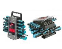 Набор инструментов SmartBuy SCN-44P1 44 предмета отвертки: крестовые, шлицевые, TORX; биты: крестовые, шлицевые, Pozidriv, HEX; головки, ответка для бит; спец.крепеж с подвесом