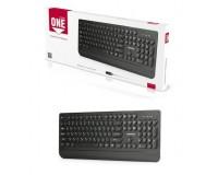 Клавиатура SmartBuy SBK-228-K USB Black 104 клавиши мультимедийная, подставка для кистей рук, круглые клавиши