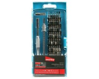 Набор инструментов SmartBuy SCBS-58P1 54 бит SL, PH, PZ, TORX, HEX, S, TW, PL, U, отвертка, 2 удлинителя (жесткий и гибкий), пластиковый бокс с подвесом