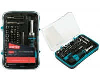 Набор инструментов SmartBuy SCBS-65P1 54 бит SL, PH, PZ, TORX, HEX, S, TW, TA, PL, U, головки шестигранные 2-е отвертка, 2 удлинителя, пластиковый бокс с подвесом
