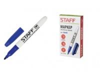 Маркер для доски STAFF 151094 круглый наконечник 2, 5 мм., эргономичный тонкий корпус с клипом, цвет чернил: синий