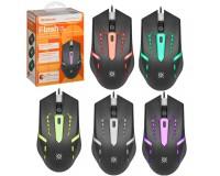 Мышь Defender MB-600L Flash USB Optical(800/1000/1200dpi) черный 3 кнопки + колесо-кнопка, 7 цветов подсветки, резиновое покрытие, коробка