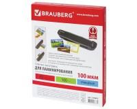 Пленка-заготовка для ламинирования BRAUBERG 530805 комплект: 100 шт., толщина: 100 мкм., размер А5 (154х216 мм)., глянцевая