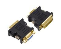 Переходник Perfeo A7019 A-DVI-VGA/SVGA 9M/15F, пакет, черный