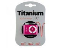 Плеер Perfeo PF-A4185 Titanium Lite MP3 Pink , microSD до 32 Gb, блистер