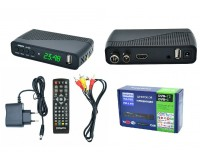 Цифровой телевизионный ресивер Орбита OT-DVB16 (HD928) DVBT2/C + медиаплеер HD 1080p, Wi-Fi: требуется внешний USB адаптер (совместим с чипами MT7601), внешний блок питания
