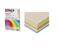 Бумага офисная STAFF 110889 А4 плотность:80 г/м2 белизна: микс , пастель 100 листов(5 цветов по 20 листов: голубой, желтый, оранжевый, розовый, салатовый)
