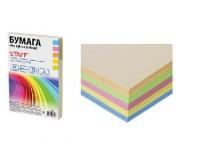 Бумага офисная STAFF 110890 А4 плотность:80 г/м2 белизна: микс , пастель 250 листов(5 цветов по 50 листов: голубой, желтый, оранжевый, розовый, салатовый)