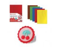 Цветной фетр для творчества BRAUBERG 660090 количество в наборе: 5 листов, количество цветов: 5 цветов, размер 210х297 мм. самоклеящийся, толщина 2 мм