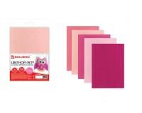 Цветной фетр для творчества BRAUBERG 660644 количество в наборе: 5 листов, количество цветов: 5 цветов (оттенки розового), размер 210х297 мм. толщина 2 мм