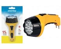 Фонарь SmartBuy SBF-85-Y 15 светодиодов, аккумулятор 4В 0.8 Ач, световой поток: 40 лм, желтый