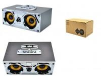 Акустическая система mini MP3 - E1 8Вт Bluetooth, MP3, FM, microSD, USB, microUSB встроенный аккумулятор 2000mA, корпус из дерева размер 21 х 14 х 9 см, цветная
