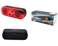 Акустическая система mini MP3 - H-828 5Вт Bluetooth, MP3, FM, microSD, microUSB, AUX-3.5мм встроенный аккумулятор 3.7V/600 мА размер 15 х 6 х 5.5 см, цветная