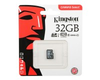 Флэш карта microSDHC 32 GB Kingston Class 10 Canvas React cl10 100R/80W U3 UHS-I V30 без адаптера