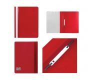 Скоросшиватель пластиковый STAFF 225729 Формат: А4 фиксирует до 100 листов, красный