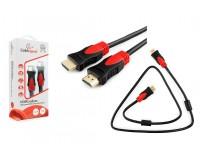 Кабель HDMI-HDMI Cablexpert 1м серия SILVER ver.1.4, позолоченные разъемы, ферритовые фильтры, технология ARC, коробка, черный (CC-S-HDMI03-1M)