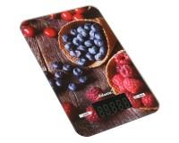 Весы кухонные Atlanta ATH-6212 электронные, цена деления 1 г. max 5 кг. дисплей 58х26мм, сенсорные кнопки, автоотключение, работает от 2 х 1, 5 В батареек тип ААА, красные
