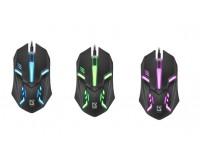 Мышь Defender HIT MB-550 USB Optical (1200 dpi) черная, 2 кнопки+кнопка-колесо, 7 цветов подсветки, блистер