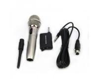 Микрофон - WM-309 пластик, беспроводной/проводной