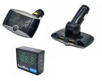 FM трансмиттер Broad KCB-901 12-24В, USB/microSD, автомобильный, Bluetooth, пульт, коробка, цветной