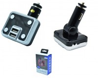 FM трансмиттер Broad KCB-910 12-24В, USB/microSD, автомобильный, Bluetooth, пульт, коробка,
