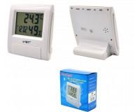 Часы VST 7090S будильник, температура, влажность, белый