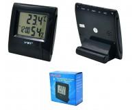 Часы VST 7090S будильник, температура, влажность, черный