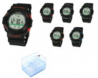 Часы наручные iTaiTek IT-348 электронные (дата, будильник, секундомер, таймер), пластик, подсветка