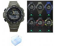 Часы наручные iTaiTek IT-352 электронные (дата, будильник, секундомер, таймер), пластик, подсветка