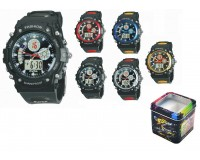 Часы наручные iTaiTek IT-912 гибридный циферблат (дата, будильник, секундомер, таймер), пластик, подсветка