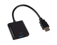 Переходник Perfeo A7022 HDMI-VGA/SVGA F/M, пакет, черный