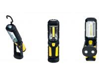 Фонарь Perfeo PF-A4420 LED+COB 1 светодиод 3хAA 1W+5W, прорезиненный, магниты, крючок