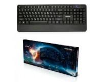 Клавиатура SmartBuy SBK-325-K Firefly USB black 104 клавиши с подсветкой