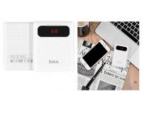 Портативное зарядное устройство HOCO B20-10000 Mige 10000 мАч Выходной ток:1USB-2100мА , 2USB-2100мА ; входной ток: 2000мА, размер: 9.4*6.5*2.4 см, пластик, белый