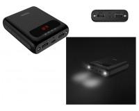 Портативное зарядное устройство HOCO B20-10000 Mige 10000 мАч Выходной ток:1USB-2100мА , 2USB-2100мА ; входной ток: 2000мА, размер: 9.4*6.5*2.4 см, пластик, черный