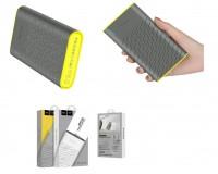 Портативное зарядное устройство HOCO B31 Rege 20000 мАч Выходной ток:1USB-2100мА , 2USB-2100мА ; входной ток: 2000мА, размер: 14.5*8.2*2.3 см, пластик, серый