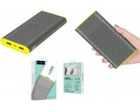 Портативное зарядное устройство HOCO B31A Rege 30000 мАч Выходной ток:1USB-2100мА , 2USB-2100мА ; входной ток: 2000мА, размер: 16*8.2*2.3 см, пластик, серый