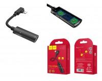 Переходник HOCO LS18 iPhone 5 (Lightning 8 Pin) - iPhone 5 (Lightning 8 Pin) аудио + iPhone 5 (Lightning 8 Pin) зарядка, черный