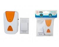 Звонок электрический беспроводной Эра A02 100 м 32 мелодий полифония, питание: 2 х ААА( в комплект не входят), кнопка-от А23(12B) (в комплекте), пакет